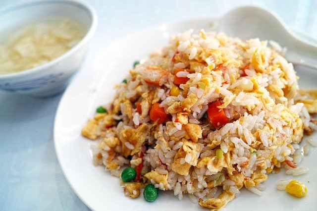 Fried rice cooking