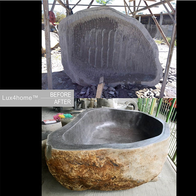 How stone bathtubs are actually made